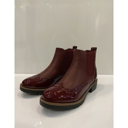 Lucy Cobb Footwear Brogue Ankle Boots in Burgundy