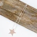 Sadie Star Necklace  - Dusky Pink