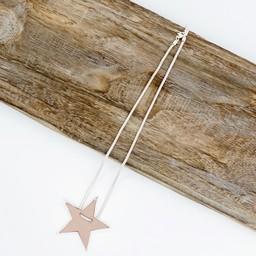 Lucy Cobb Jewellery Sadie Star Necklace  in Dusky Pink
