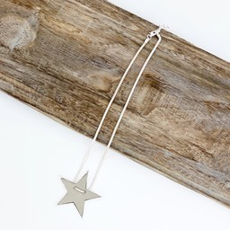 Lucy Cobb Jewellery Sadie Star Necklace  - Grey