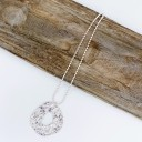 Cecilia Charm Short Necklace  - Silver