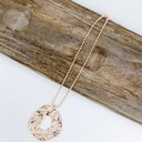 Cecilia Charm Short Necklace  - Rose Gold