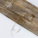 Hattie Heart Short necklace - Silver - Alternative 1
