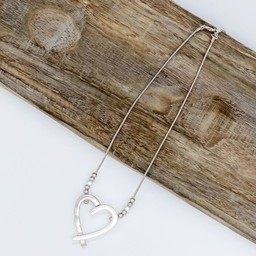 Lucy Cobb Jewellery Hattie Heart Short necklace - Silver