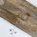 Three Star Charm Short Necklace  - Silver - Alternative 1