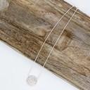 Daniella Diamante Circle Short Necklace  - Silver