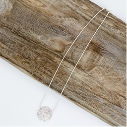 Lucy Cobb Jewellery Daniella Diamante Circle Short Necklace  - Silver