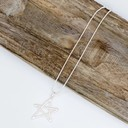 Libra Star Short Necklace - Silver