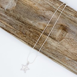 Lucy Cobb Jewellery Gemini Star Short Necklace  - Grey