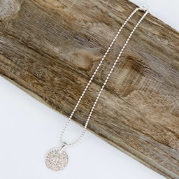 Lucy Cobb Jewellery Della Diamante Short Necklace - Silver