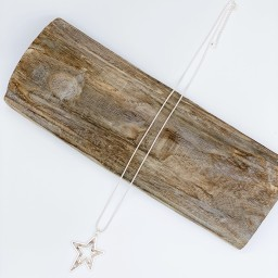 Lucy Cobb Jewellery Virgo Star Long Necklace - Silver