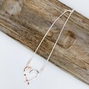 Hattie Heart Short necklace - Silver/Rose Gold