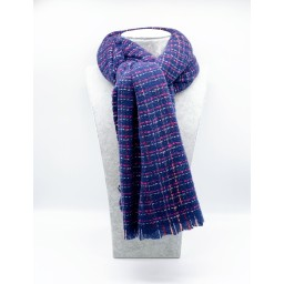 Lucy Cobb Accessories Blair Boucle Scarf in Navy