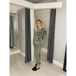 Lucy Cobb Leopard Star Loungewear Set - Khaki