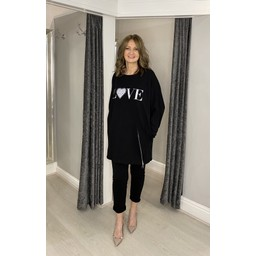Lucy Cobb Love Zip Loungewear Set - Black