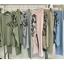 Leopard Star Loungewear Set - Denim Blue