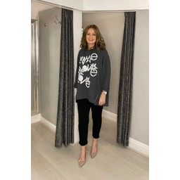 Lucy Cobb Love Star Hoodie - Charcoal