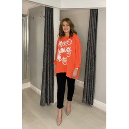 Lucy Cobb Love Star Hoodie in Coral