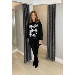 Lucy Cobb Love Star Hoodie in Black