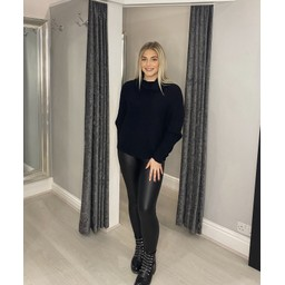 Lucy Cobb Raven Ribbed Roll neck in Black