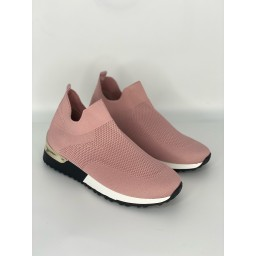 Lucy Cobb Footwear Sock Trainers in Baby Pink