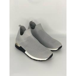 Lucy Cobb Footwear Sock Trainers in Silver Grey