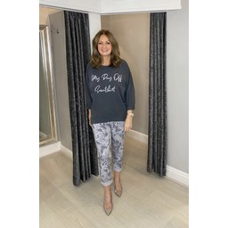 Lucy Cobb Java Magic Joggers in Silver Grey