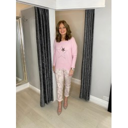 Lucy Cobb Alpha Star Top in Baby Pink
