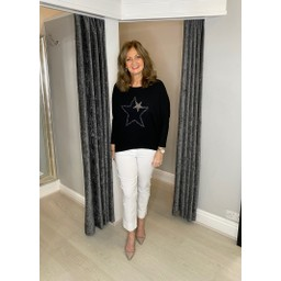 Lucy Cobb Alpha Star Top in Black