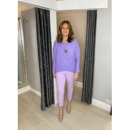 Lucy Cobb Alpha Star Top in Lilac