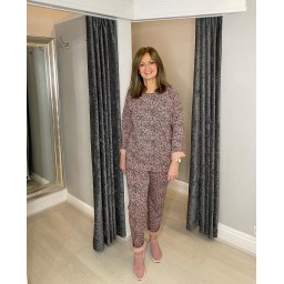 Lucy Cobb Logan Leopard Loungewear set - Pink Animal Print