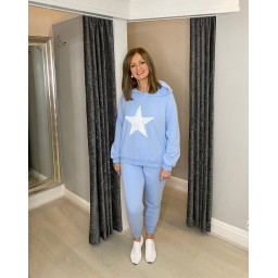Lucy Cobb Saturn Star Loungewear Set in Baby Blue