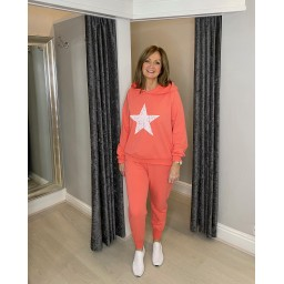 Lucy Cobb Saturn Star Loungewear Set - Coral