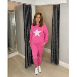 Lucy Cobb Saturn Star Loungewear Set in Fuchsia