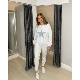 Lucy Cobb Saturn Star Loungewear Set in Ivory