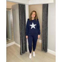 Lucy Cobb Saturn Star Loungewear Set in Navy