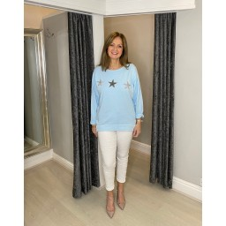Lucy Cobb Sirus Star Sweatshirt in Baby Blue