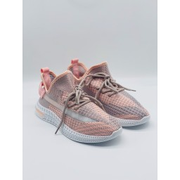 Lucy Cobb Footwear Boost Fabric Trainers - Baby Pink