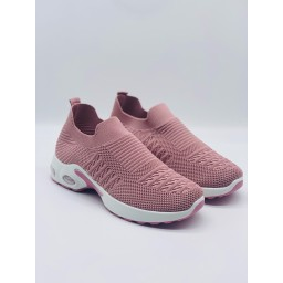 Lucy Cobb Footwear Samba Sock Trainers in Baby Pink