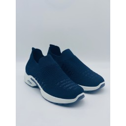 Lucy Cobb Footwear Samba Sock Trainers in Navy