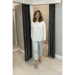 Lucy Cobb Super Soft Luxury Star Jumper in Ivory