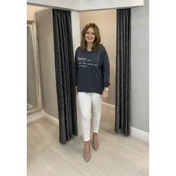 Lucy Cobb Sassy Zip Sweatshirt in Charcoal