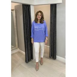 Lucy Cobb Sassy Zip Sweatshirt in Lilac