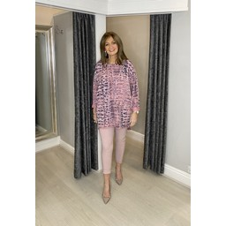 Lucy Cobb Medusa Tunic in Pink (431)