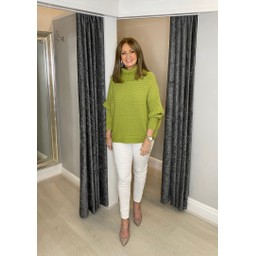 Lucy Cobb Raven Ribbed Roll neck - Lime Green