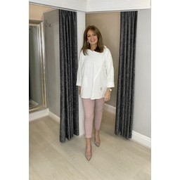 Lucy Cobb Della Hooded Sweatshirt in Ivory