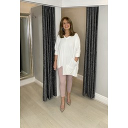 Lucy Cobb Pollie Pocket Top in Ivory