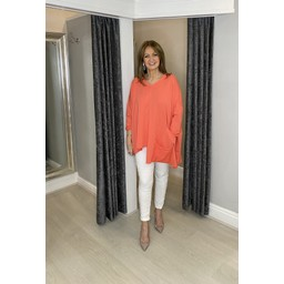 Lucy Cobb Pollie Pocket Top - Coral
