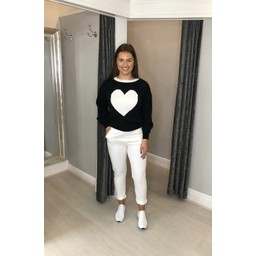 Lucy Cobb Cupid Heart Jumper in Black