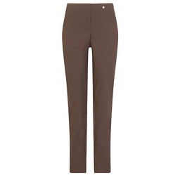 Robell Trousers Bella Full Length Trousers in Mocha